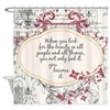 Inspirational Beauty Quote Shower Curtain