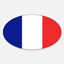 Flag of France Oval Decal