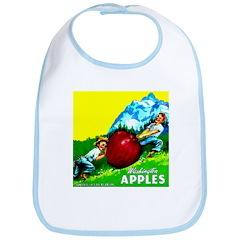 Apple Kids Brand Bib