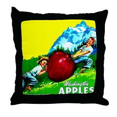 Apple Kids Brand Throw Pillow