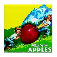 Apple Kids Brand Tile Coaster