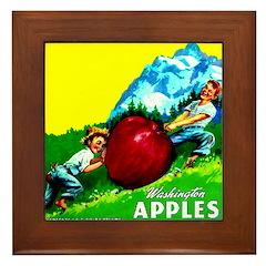 Apple Kids Brand Framed Tile