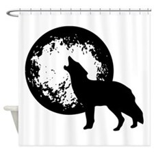 Wolf Howling At Moon Shower Curtain