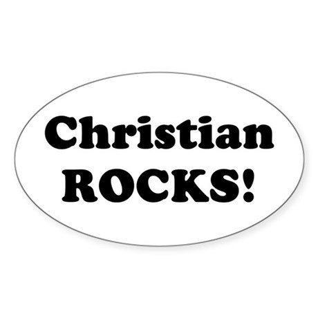 Christian Rocks! Oval Sticker