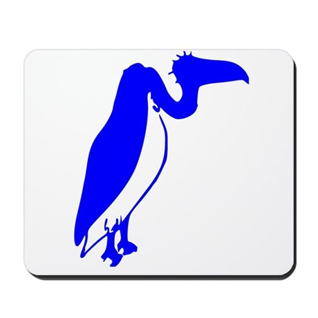 Blue Vulture Silhouette Mousepad