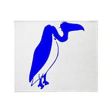 Blue Vulture Silhouette Throw Blanket