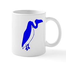 Blue Vulture Silhouette Mugs