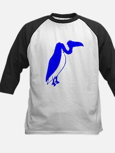 Blue Vulture Silhouette Baseball Jersey