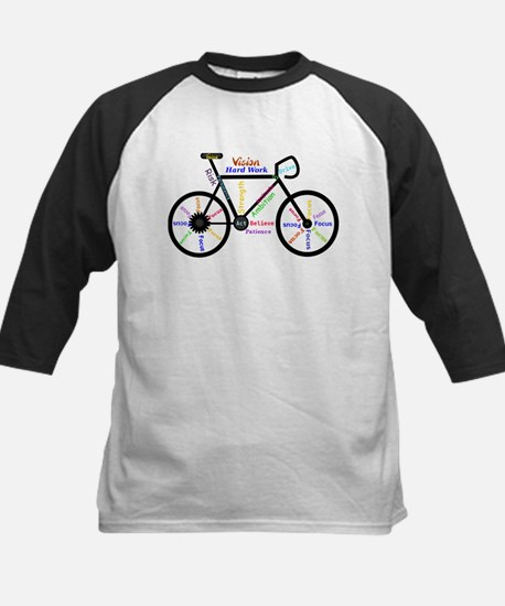 Bike made up of words to motivate Baseball Jersey