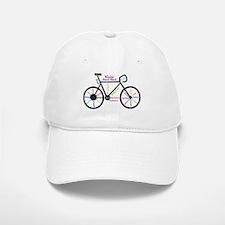 Bike made up of words to motivate Baseball Baseball Baseball Cap