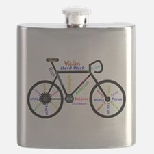 Bike made up of words to motivate Flask