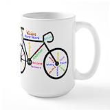 Bikes Large Mugs (15 oz)