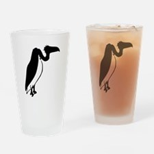 Black Vulture Silhouette Drinking Glass