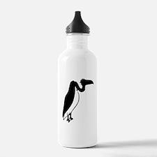 Black Vulture Silhouette Sports Water Bottle