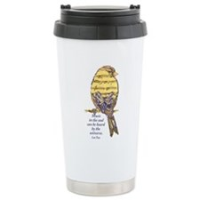 Music in the Soul quote Music Note Bird Travel Mug