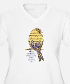 Music in the Soul quote Music Note Bird Plus Size