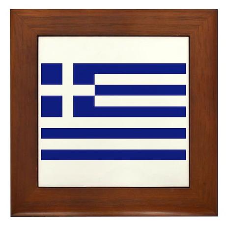 Flag of Greece Framed Tile