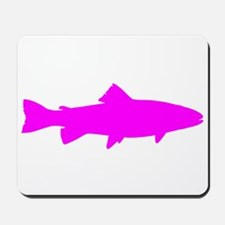 Pink Trout Silhouette Mousepad