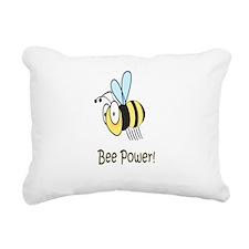 Bee Power Rectangular Canvas Pillow