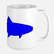 Blue Trout Silhouette Mugs