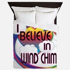 I Believe In Wind Chimes Cute Believer Design Quee