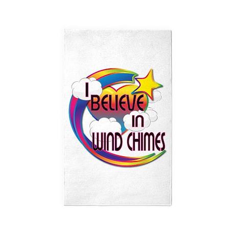 I Believe In Wind Chimes Cute Believer Design 3'x5