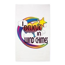 I Believe In Wind Chimes Cute Believer Design 3'x5