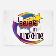 I Believe In Wind Chimes Cute Believer Design 5'x7
