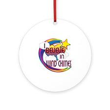 I Believe In Wind Chimes Cute Believer Design Orna