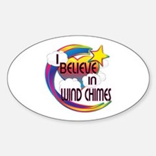I Believe In Wind Chimes Cute Believer Design Stic