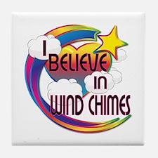 I Believe In Wind Chimes Cute Believer Design Tile