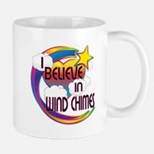 I Believe In Wind Chimes Cute Believer Design Mug