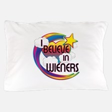 I Believe In Wieners Cute Believer Design Pillow C