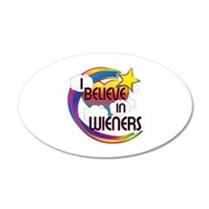 I Believe In Wieners Cute Believer Design Wall Decal