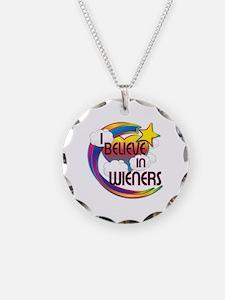 I Believe In Wieners Cute Believer Design Necklace