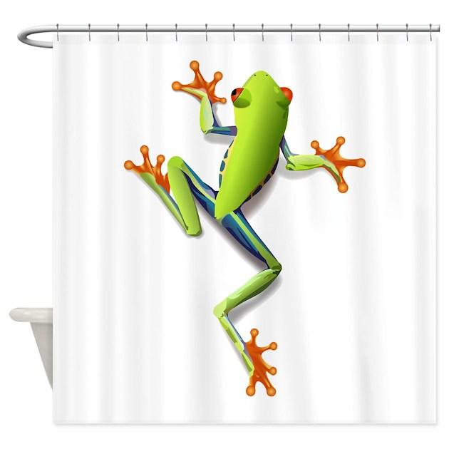 Poison Dart Frog Shower Curtain By AnimalsandWildlifeGifts2