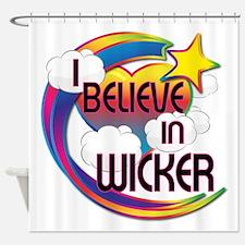 I Believe In Wicker Cute Believer Design Shower Cu