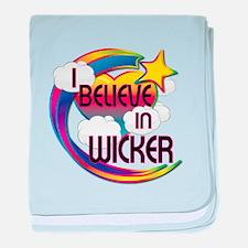 I Believe In Wicker Cute Believer Design baby blan