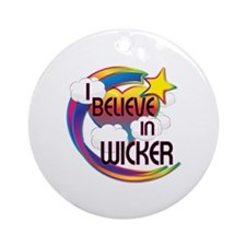 I Believe In Wicker Cute Believer Design Ornament