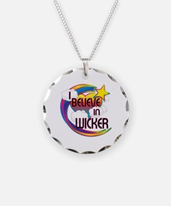 I Believe In Wicker Cute Believer Design Necklace