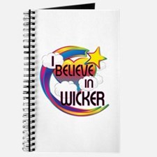 I Believe In Wicker Cute Believer Design Journal