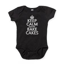 Keep Calm and Bake Cakes Baby Bodysuit