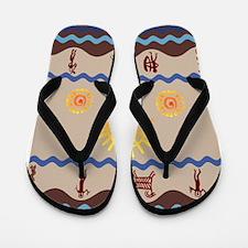 Spirit Path Rock Art Flip Flops