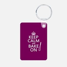 Keep Calm and Bake On Keychains