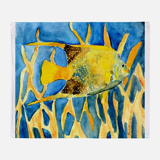 tropical-fish-painting-large.jpg Throw Blanket