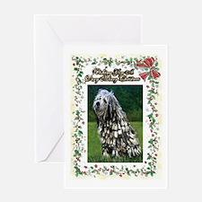 Bergamasco Dog Christmas Greeting Cards