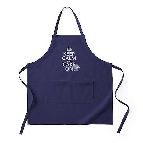 Keep Calm and Cake On Apron (dark)