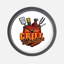 Pocket Grill Master Personalized Wall Clock