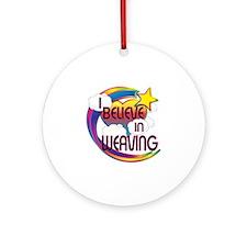 I Believe In Weaving Cute Believer Design Ornament