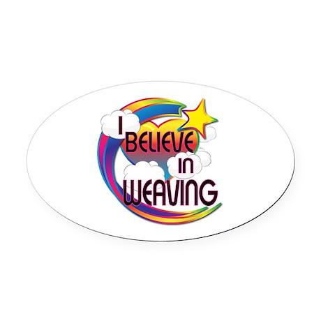 I Believe In Weaving Cute Believer Design Oval Car